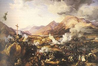 Battle of Wörgl - Battle of Wörgl by Peter von Hess, 1832