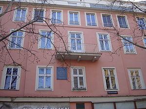 Arthur Schnitzler - Schnitzler's birthplace Praterstrasse 16
