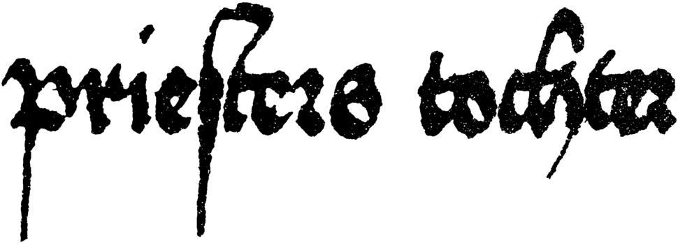 Schwäbische Bastarda 1496 Schriftprobe Priesters Tochter