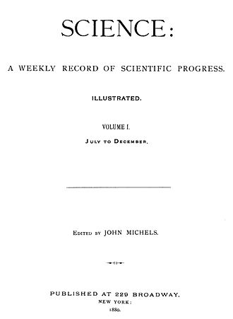 Science (journal) - Image: Science Vol. 1 (1880)