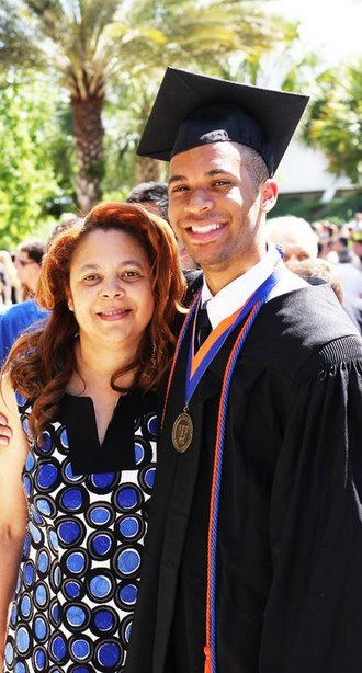 Scooter Magruder - Magruder with mom at UF graduation