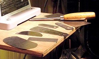 Card scraper - Various scrapers, with burnisher