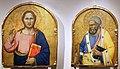 Scuola degli orcagna, cristo benedicente e san pietro, 1350-1400 ca. 01.jpg
