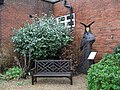 Seat in the museum garden at Worthing - geograph.org.uk - 1717557.jpg