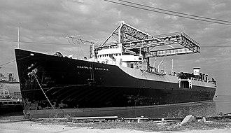 Texas City, Texas - Seatrain Louisiana at Refinery Dock, Texas City 1952