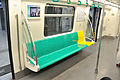 Seats in a train of BJS Line 8, 2012.jpg