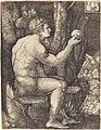 Sebald Beham, Adam Seated, 1519, NGA 4375.jpg