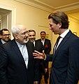 Sebastian Kurz greets Mohammad Javad Zarif, Vienna.jpg