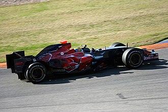 Toro Rosso STR2 - An STR2B driven by Sébastien Bourdais at Valencia in January 2008.
