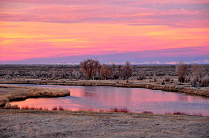 Seedskadee National Wildlife Refuge - Image: Seedskadee nwr sunset