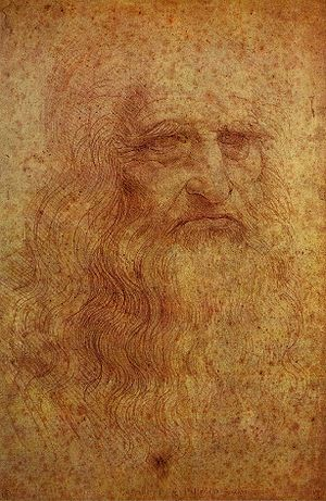 Self-portrait by Leonardo da Vinci, executed i...