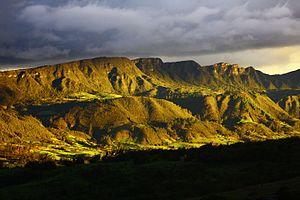 Bogotá savanna - Hills of Sesquilé in the northeast of the Bogotá savanna
