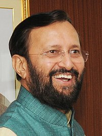 Shri Prakash Javadekar, Minister of State for Information and Broadcasting (Independent Charge), Environment, Forest and Climate Change (Independent Charge) and Parliamentary Affairs(cropped).jpg