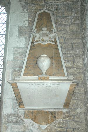 Thomas Paty - Monument to Rothesia Ann Barrington (died 1745) in St Andrew's parish church, Shrivenham