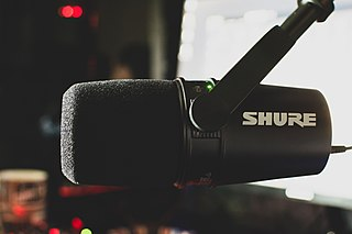 Shure MV7 Microphone for podcasting