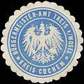 Siegelmarke Bürgermeister-Amt Treis-Mosel Kreis Cochem W0382701.jpg