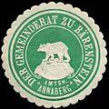 Siegelmarke Der Gemeinderat zu Bärenstein - Amtsh. Annaberg W0307979.jpg