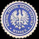 Siegelmarke Königlich Preussisches Kreis - Gericht - Minden.jpg