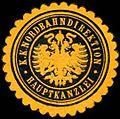 Siegelmarke K.K. Nordbahndirektion - Hauptkanzlei W0261185.jpg