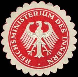 Federal Ministry of the Interior (Germany) - Pre-1923 Seal of the Weimar-era Reichsministerium des Innern