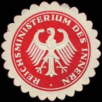 Federal Ministry of the Interior, Building and Community - Pre-1923 Seal of the Weimar-era Reichsministerium des Innern