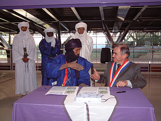 Saint-Jean-de-Maurienne - The signature of the memorandum of friendship with Tessalit in Mali, on 19 November 2005