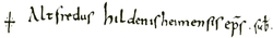 Signature of Saint Altfrid 1.png