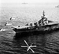 Sikorsky HSS-1 Seabats of HS-6 fly over USS Philippine Sea (CVS-47) in May 1958.jpg