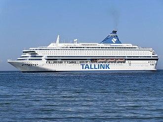 MS Silja Europa - Image: Silja Europa departing Tallinn Estonia 3 August 2013