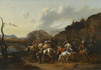 Simon Johannes van Douw - A Battle Skirmish between Christians and Turks