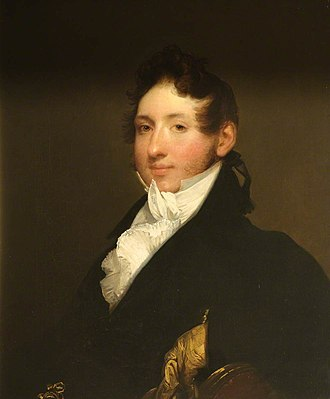 Forbes baronets - Sir Arthur Forbes (1784–1823), 6th Bt of Craigievar painted by Gilbert Stuart.