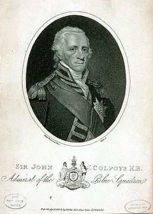 John Colpoys - Sir John Colpoys K.B. Admiral of the Blue Squadron Mather Brown, 1804