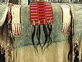 Sitting Bull's war shirt, Hunkpapa Lakota, Northern Plains, sheepskin, human hair, weasel skins, horsehair, porcupine quills, c. 1875 - Royal Ontario Museum - DSC00333.JPG
