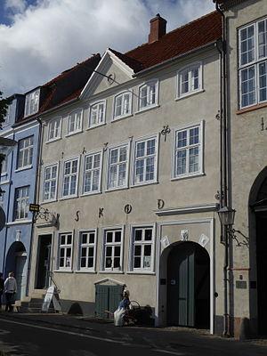 Skibsklarerergaarden - The façade on Strandgade