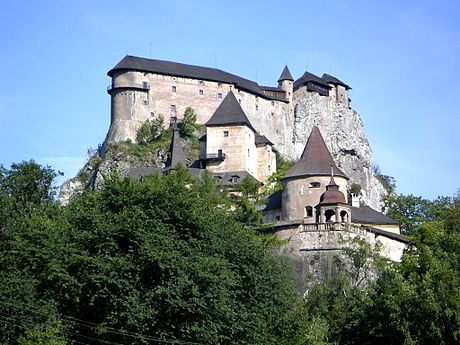 Orava Castle in Slovakia. A Medieval castle is a traditional symbol of a feudal society