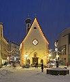 Snowing at Christmas in Urtijëi Saint Antony church.jpg