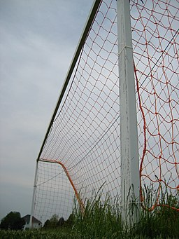 Soccer goal low angle
