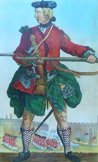 Military history of Scotland - Soldier of the Black Watch c. 1740
