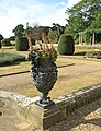 Somerleyton Hall - planted urn by steps to front lawn - geograph.org.uk - 1506715.jpg