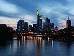 Sunset in Frankfurt