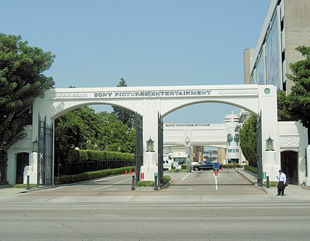 The main entrance to the Sony Pictures Entertainment studio lot in Culver City Sony Pictures Entertainment entrance 1.jpg