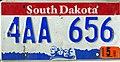 South Dakota 2003 license plate - 4AA 656.jpg