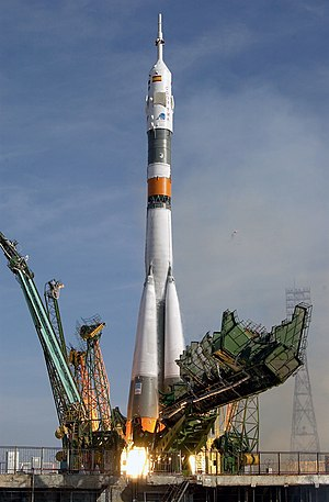 Soyuz-FG - The launch of Soyuz TMA-3 atop a Soyuz-FG rocket.