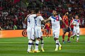 Spain - Chile - 10-09-2013 - Geneva - Eduardo Vargas celebrating with Mauricio Isla, Arturo Vidal and another player.jpg