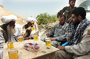Special Forces commander meets with village elders Afghanistan 2007