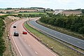 Spreyton, the A30 approaching Whiddon Down - geograph.org.uk - 207502.jpg