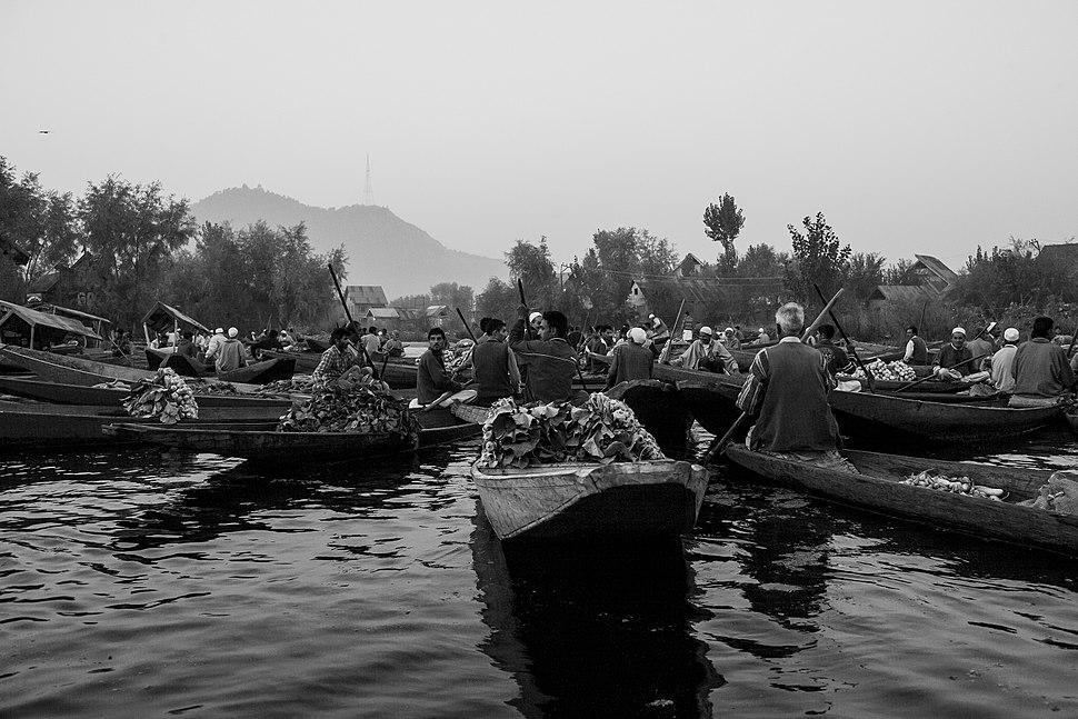 Srinagar floating market