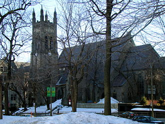 Place du Canada - St. George's Anglican Church from Place du Canada