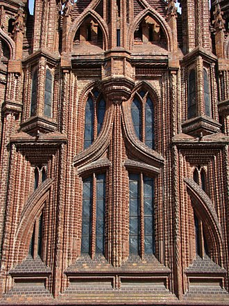 Brick Gothic - St. Anne Church detail, Vilnius, Lithuania