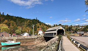 St. Martins, New Brunswick - St. Martins and its twin covered bridge